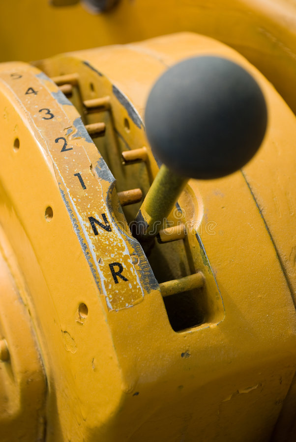 Heavy equipment gear shifter royalty free stock photography