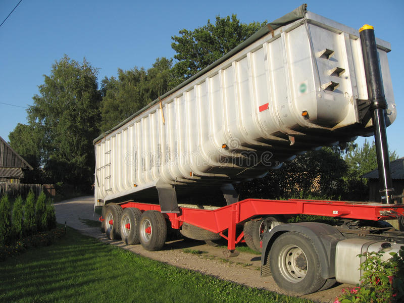 Heavy freight trailer royalty free stock images