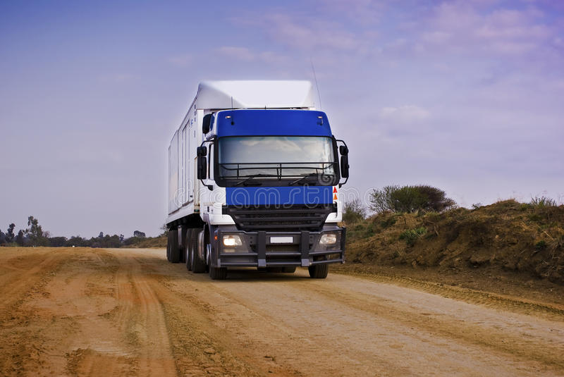 Download Heavy Goods In Transit - Front View Stock Photo - Image: 21181314