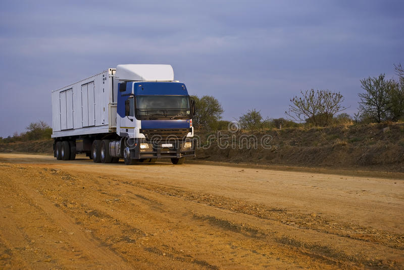Heavy Goods In Transit - Front View - Wider Angle Stock Images