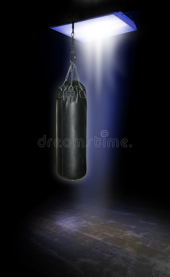 Heavy gym boxing bag royalty free stock photography