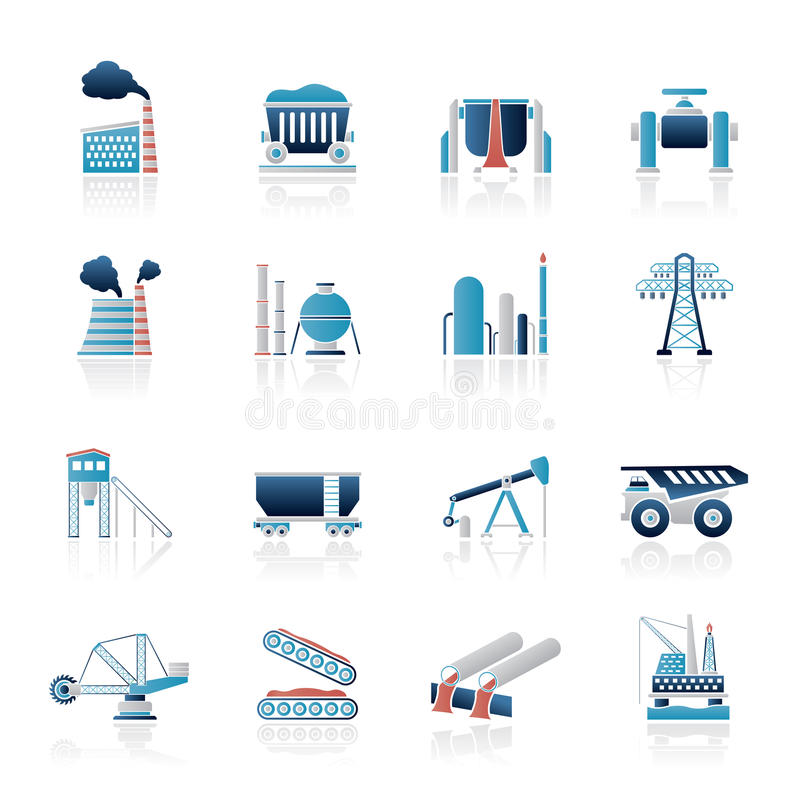 Download Heavy industry icons stock vector. Illustration of heavy - 29480355