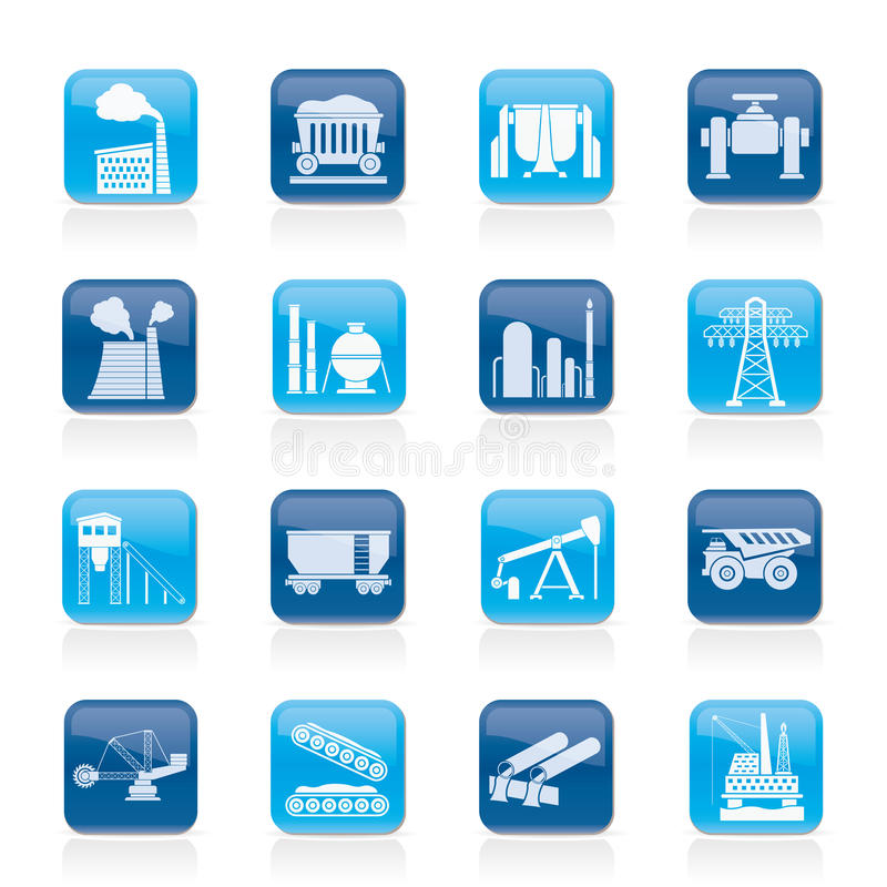 Download Heavy industry icons stock vector. Illustration of digger - 29761779