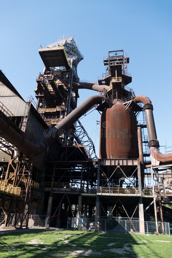 Heavy industry and mining museum in ostreva vitkovice in czech republic royalty free stock images