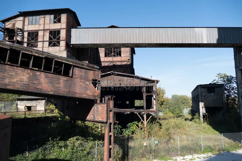 Heavy industry and mining museum in ostreva vitkovice in czech republic stock photography
