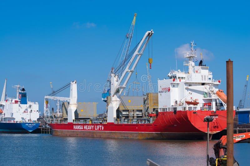 Heavy lift vessel stock photo