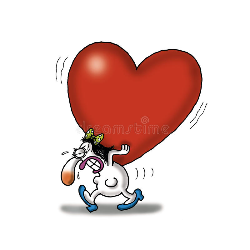 Download Heavy Love stock illustration. Image of game, love, alone - 21215685