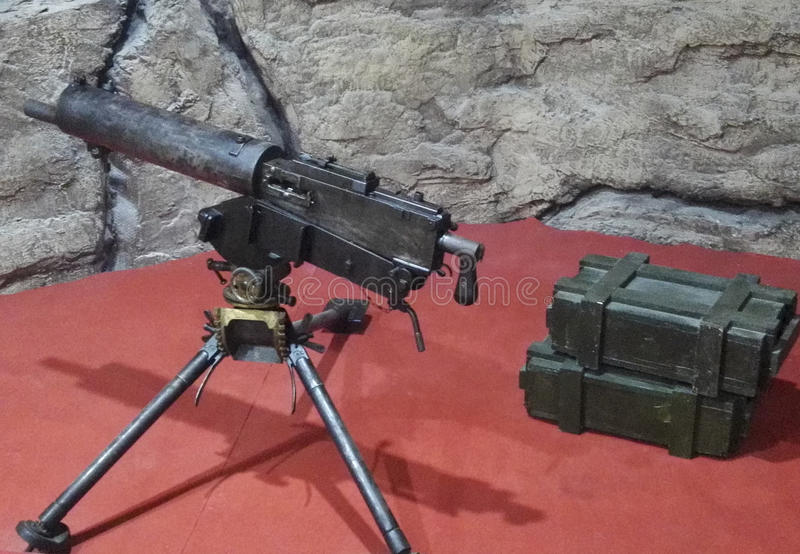 Heavy machine guns. Used in the Anti-Japanese War!Location: the three gorges museum in chongqing, China stock images