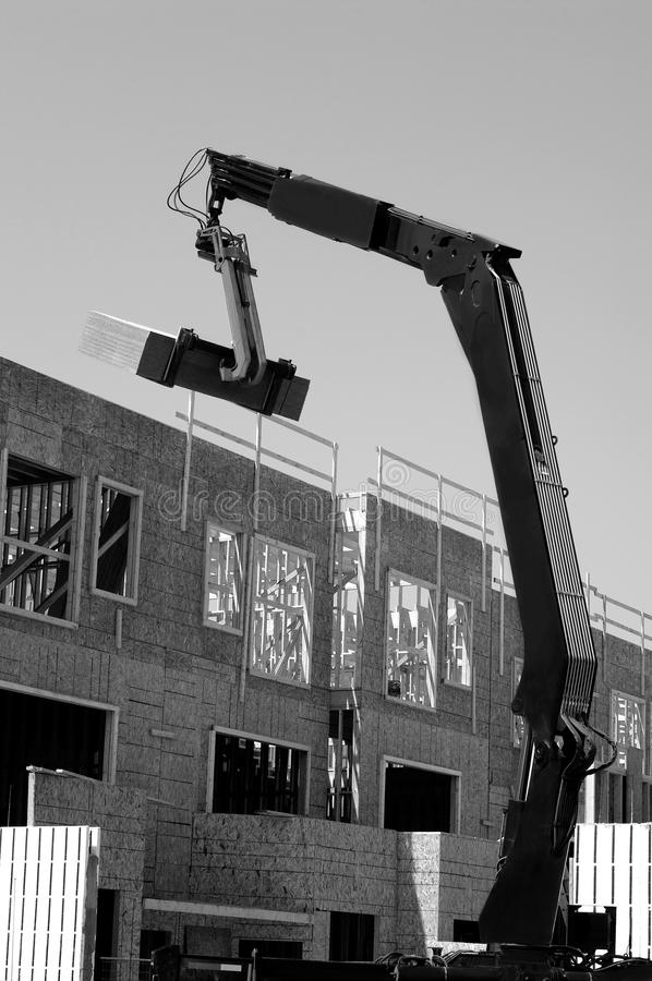 Heavy machinery industrial derrick hoist construction building r royalty free stock images