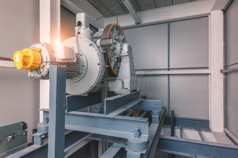 Heavy machinery in industrial factory stock photography