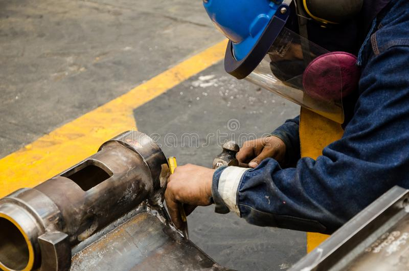 Heavy machinery mechanic royalty free stock image