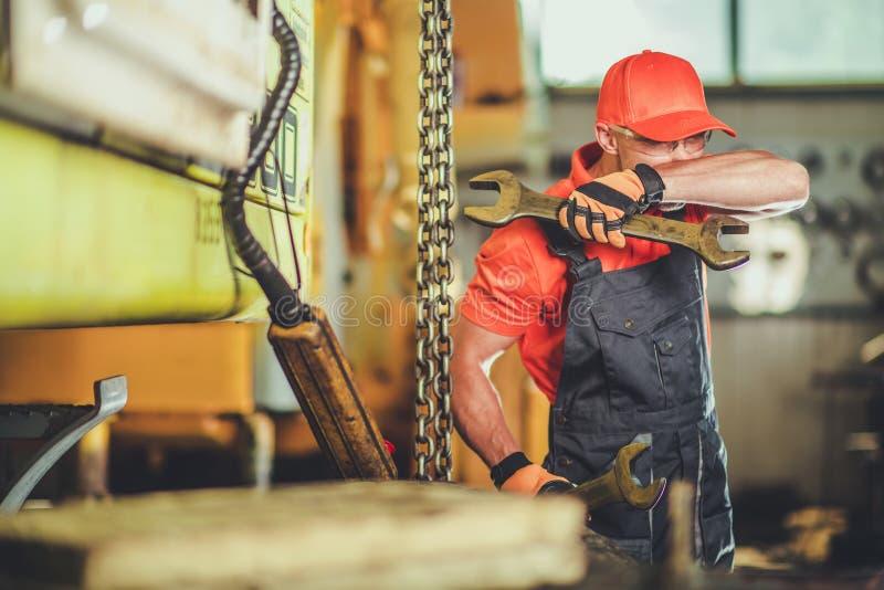 Heavy Machinery Technician royalty free stock photography