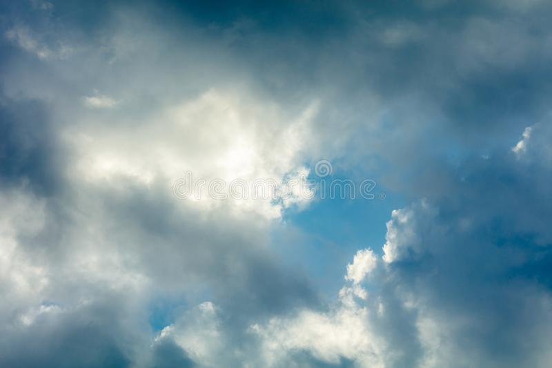 Storm Clouds background stock images