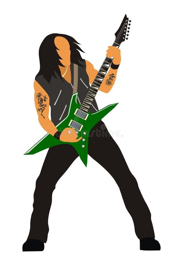 Download Heavy metal guitarist stock vector. Image of hard, musician - 4699072