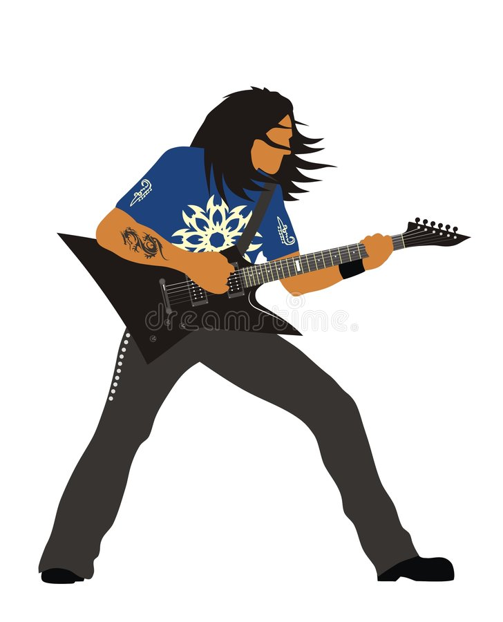 Heavy Metal Guitarist Royalty Free Stock Photos