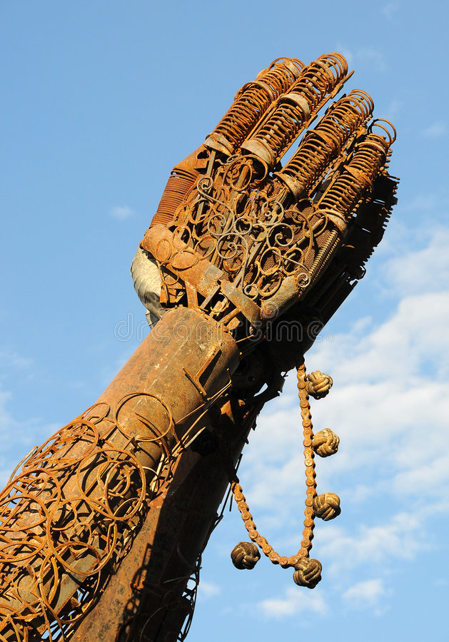 Download Heavy Metal Hands Praying 2 Stock Photo - Image: 6330294