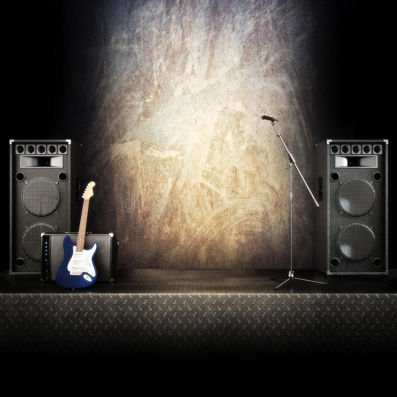 Free Heavy Metal Music Stage Stock Image - 31035501