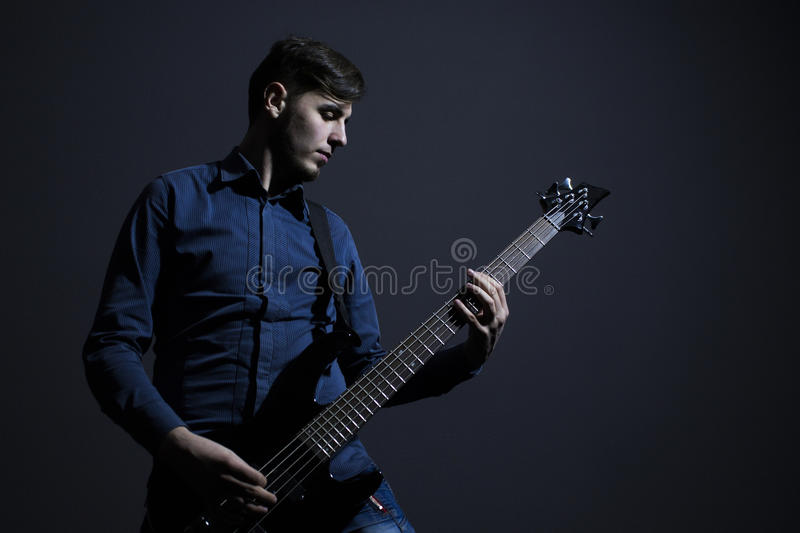 Heavy metal musician stock photos
