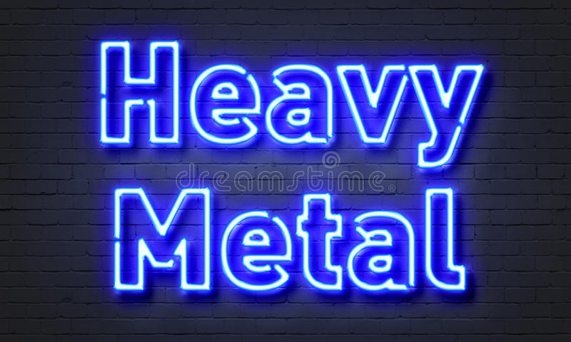 Heavy metal neon sign royalty free stock photos