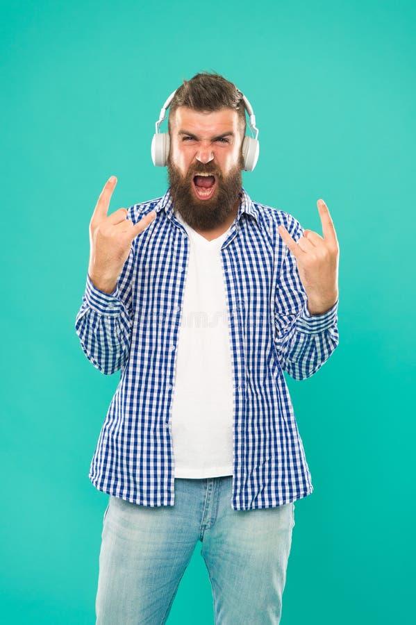 Heavy metal och hårt vaggar Tryckning av musikplatser Tr?dl?s teknologi Användarvänlig manöverenhet och stort arkiv av arkivbild