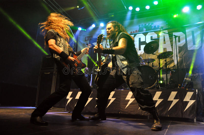 Heavy metal, rock concert live royalty free stock photography
