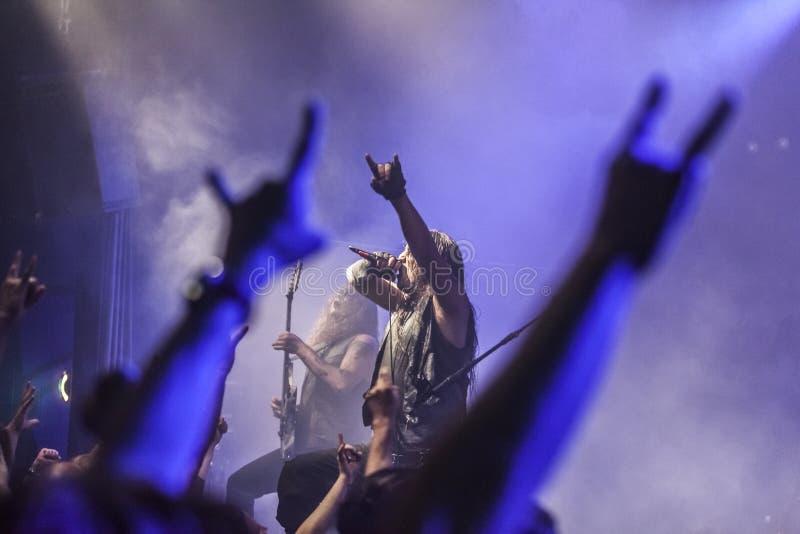Heavy metal rock concert stock photography