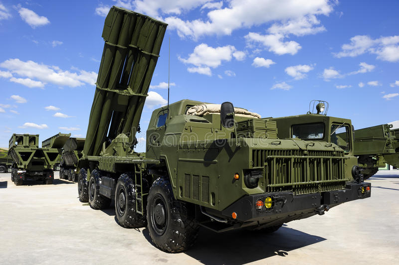 Heavy missile launcher royalty free stock photography