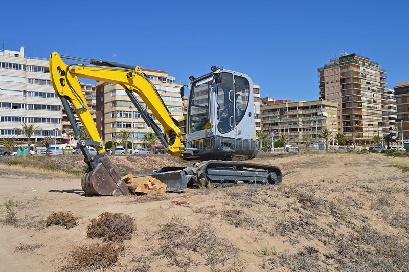 Heavy Plant Digging Machine. royalty free stock photo