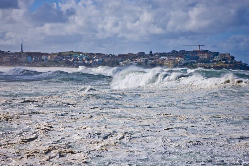 Download Heavy powerful seas stock image. Image of landscape, bondi - 30550813