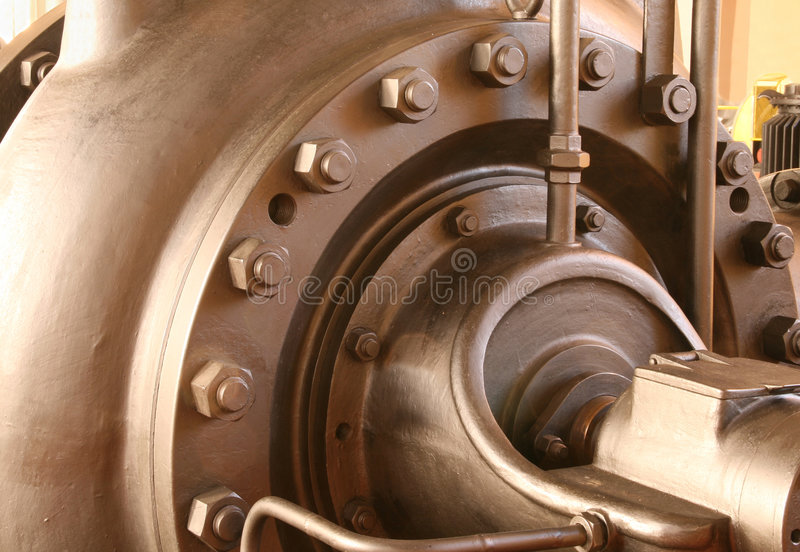 Heavy pumping machinery royalty free stock photo