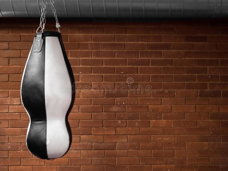 Heavy punch gym bag for boxing stock photo