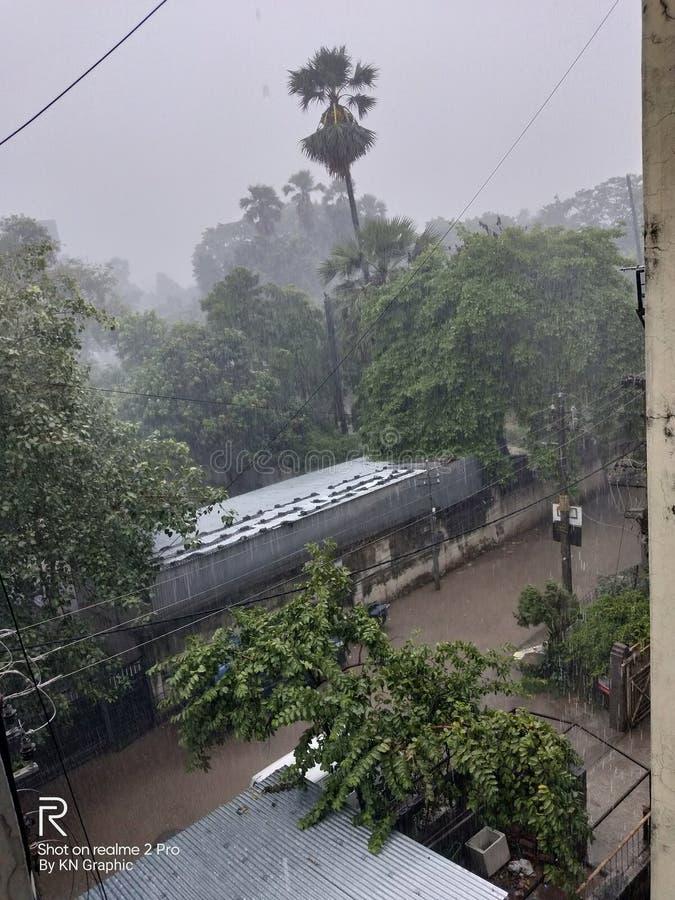 Heavy Rain image royalty free stock photography