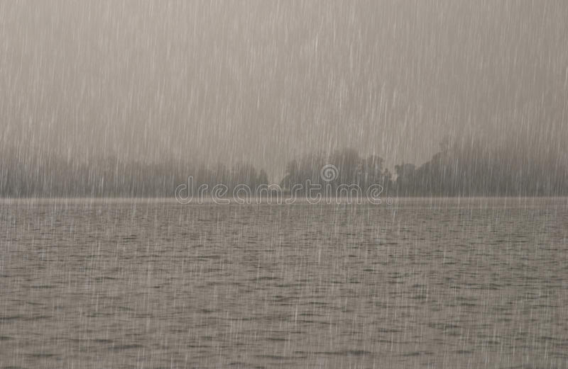 Download Heavy rain over the water stock photo. Image of background - 33222108