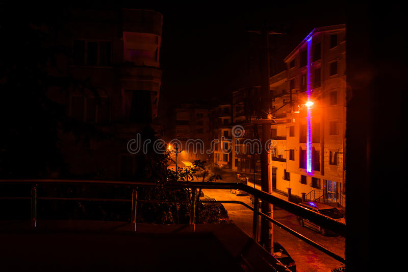 Heavy Rainfall At Night. The infamous heavy rainfall started long after midnight in Marmara region of the country Turkey and caused multiple flash floods around stock photos