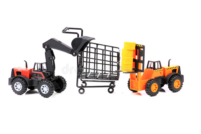 Heavy shopping concept stock images