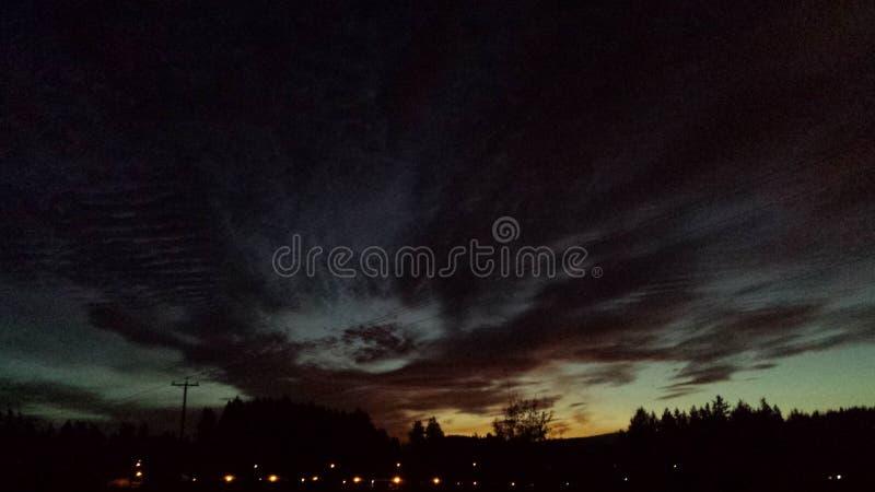 Heavy skies stock photos