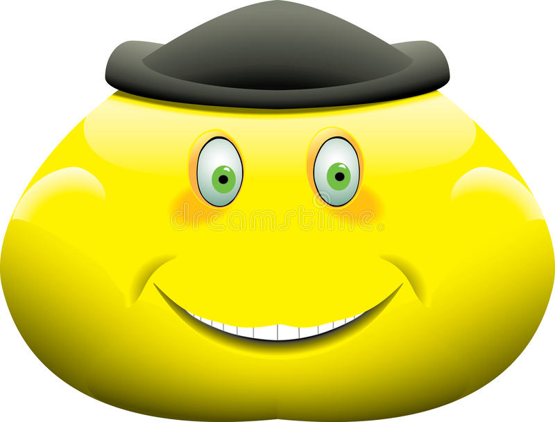 Heavy smiley face royalty free illustration