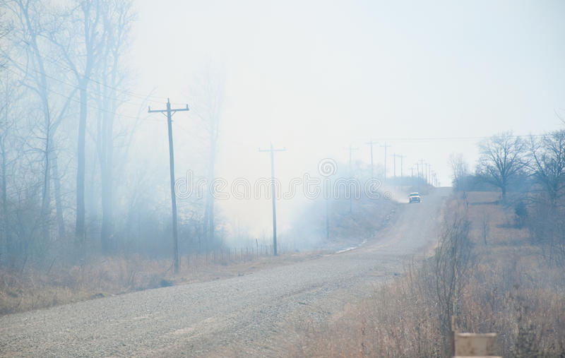 Download Heavy Smoke And Heat From A Raging Wildfire Stock Image - Image: 24654919