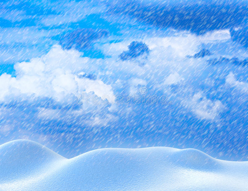 Download Heavy snowfall stock illustration. Illustration of northern - 12056719
