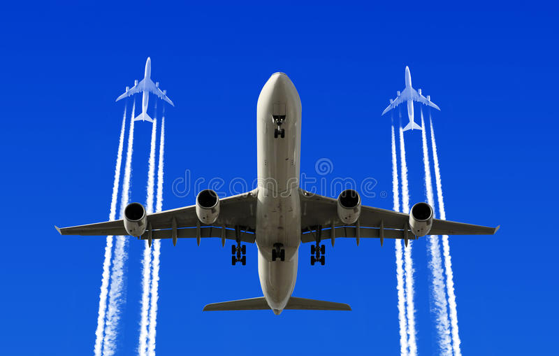 Download Heavy traffic stock image. Image of across, airliner - 31024963