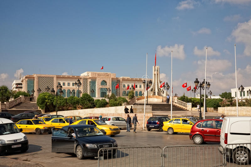 Download Heavy Traffic Close To City Hall Of Tunis, Tunisia Editorial Stock Photo - Image: 21640388