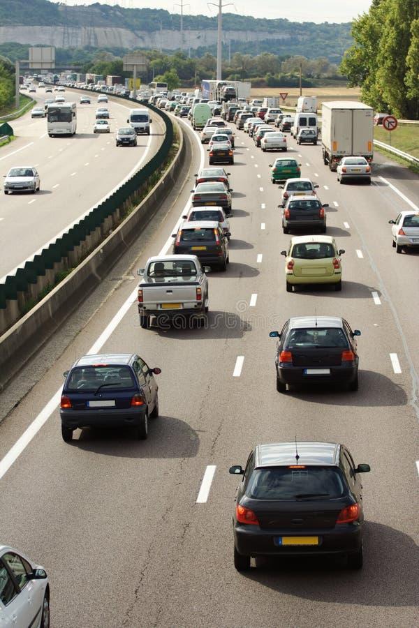 Download Heavy  traffic jam stock image. Image of shadows, transportation - 6442149
