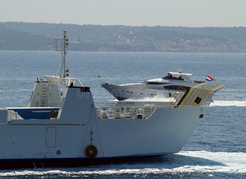 Heavy Traffic On Sea Stock Photography