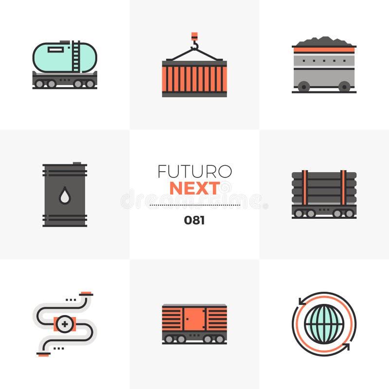 Heavy Transportation Futuro Next Icons vector illustration
