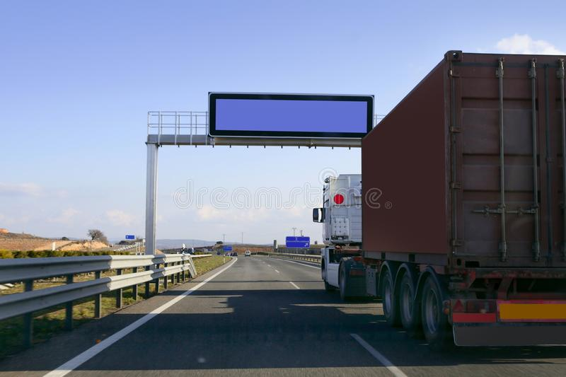 Heavy transportation truck lorry stock images