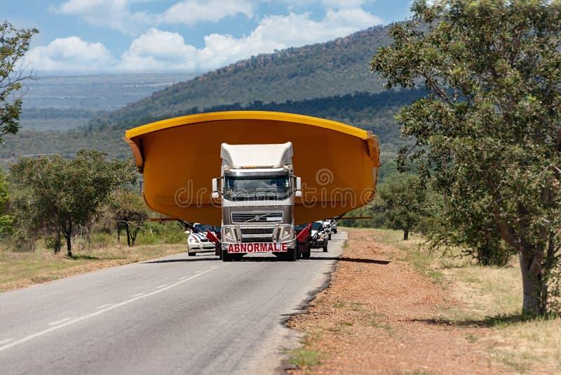 Heavy truck on road stock photos