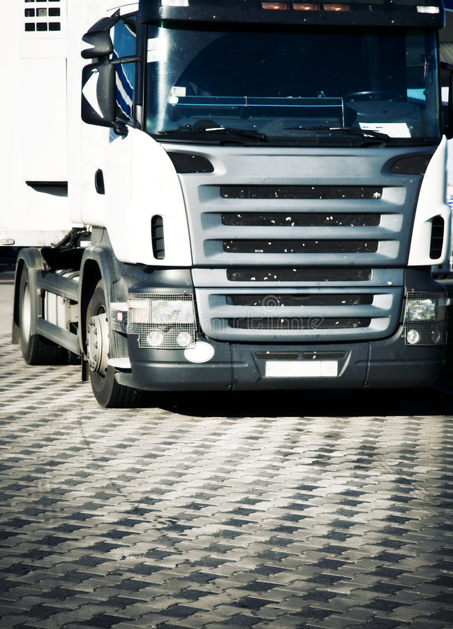 Download Heavy truck front view stock photo. Image of trucking - 6058486