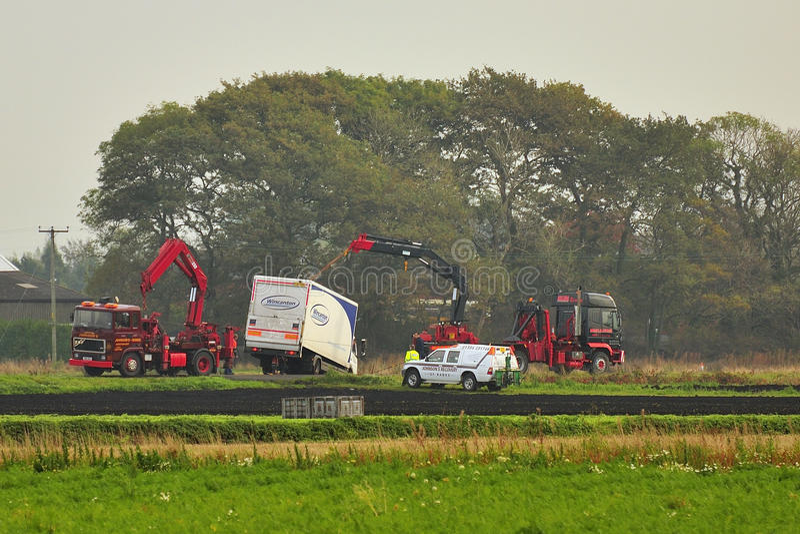 Heavy Truck Recovery, England Editorial Photo