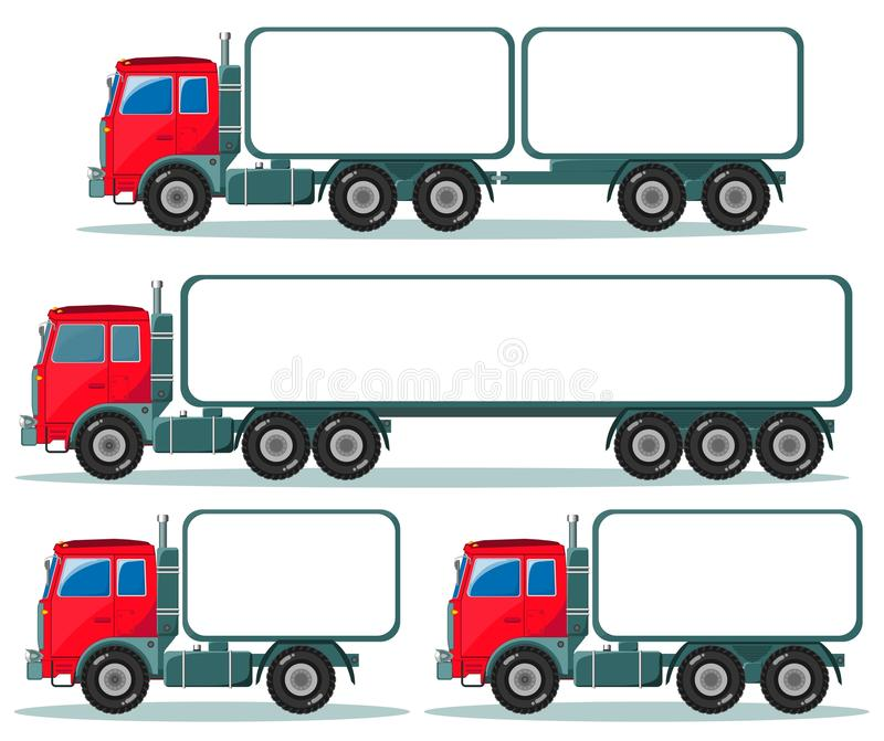 Heavy truck with space for text vector illustration
