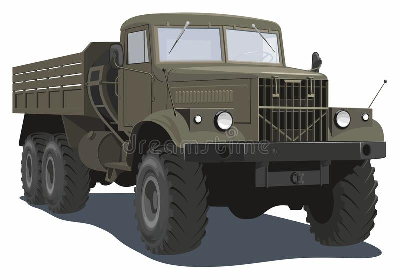 Heavy military truck royalty free stock images